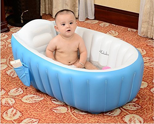 Cho Cho European Standard Inflatable Baby Bath Tub with Pump (Multicolor)