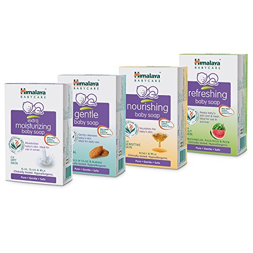 Himalaya Baby Care All Soaps Combo, (Pack of 4) 75g