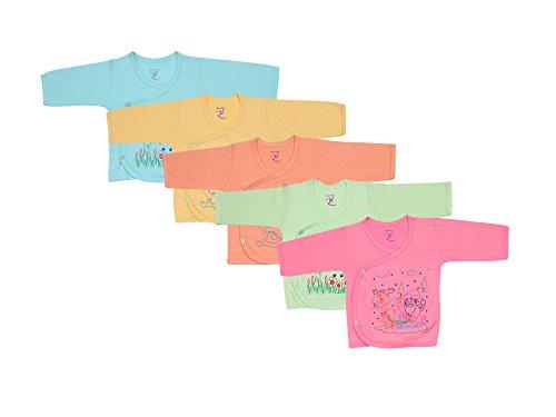 Jo Kids Wear Infant's Cotton Top Assorted Colour_0-3 months (Set Of 5)