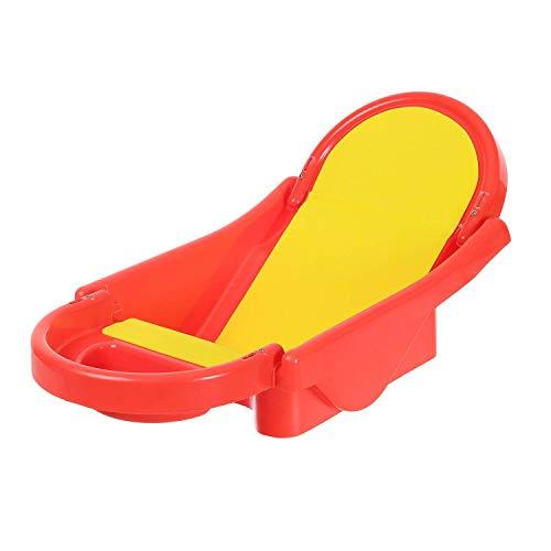 Toyboy Honey Bee Foldable Non-Toxic Plastic Baby Bath Tub with Anti-Slip Base - Red