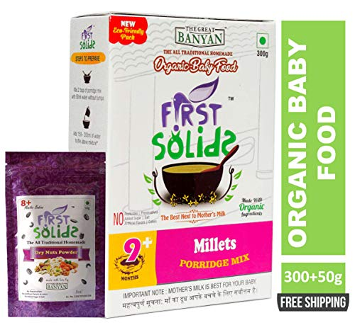 First Solids Millets Porridge Mix and Dry Nuts Powder Combo (8-24 Months)