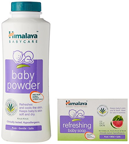Himalaya Baby Powder (200g) with Free Refreshing Baby Soap (75g, Worth Rupees 40)