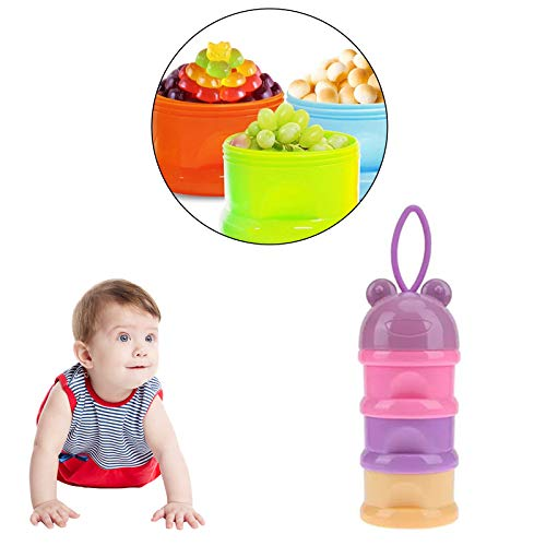 Safe-O-Kid- Pack of 1- High Quality, Travel Friendly, BPA-Free Portable 3 Layer Container, Food Storage for Baby- Assorted Colour