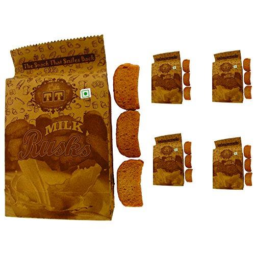 T T Traditionally Handmade Milk Rusk (Pack of 5)-350 Gram Each