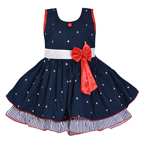 Wish Karo Baby Girls Cotton Frock Dress DN ctn054nb (18-24 Months)