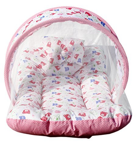 Amardeep and Co Toddler Mattress with Mosquito Net (Pink) - MT-01-Pink
