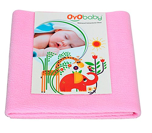 OYO BABY - Water Proof/Breathable Mattress Protector Mat/Underpad/Kids Sheet (100cm X 70cm, Medium) - Pink