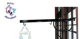 Avani MetroBuzz Window Cradle Metal Hanger (Black)