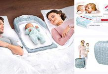 Cheesy Cheeks Portable Separate/Snuggle Bed Multifunctional Music Light Crib Baby Soft Mesh Portable Infant Baby Separated Bed (Multicolour)