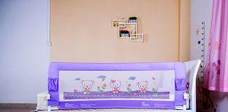Kiddale Foldable Toddler Bedrail Purple - 5 Feet
