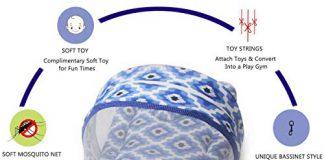 Kradyl Kroft Bassinet Style Mosquito Net Bedding for Infants-Heaven's Halo (MQ-183)