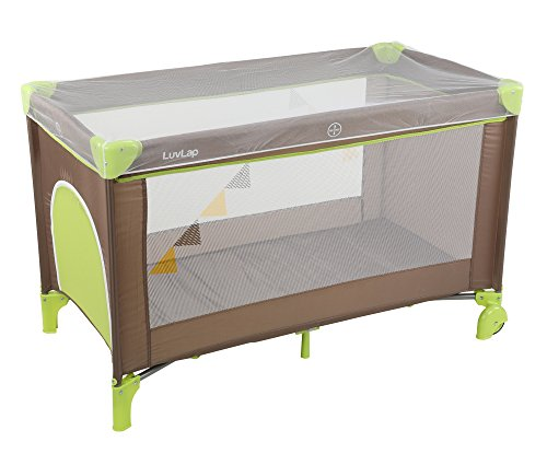 Luvlap Sunshine Baby Playpen (Brown/Green)