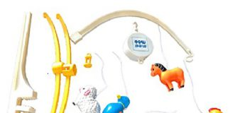 Mee Mee Musical Animal Cot Mobile (5-Toy Safari Theme)