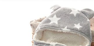 BRANDONN 3 in 1 Baby Blanket (Rich Grey)