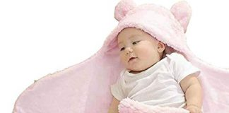 BRANDONN 3 in 1 Fleece Baby Blanket (Pink)