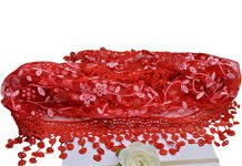 Bembika Newborn Baby Embroidery Lace Wrap with Headband Baby Photography Props (RED)(Set of 2)