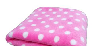 Brandonn Pink DOTT Wrapping Sheet Cum Baby Blanket for Babies(75 cm x 98 cm; 0-2 Year)