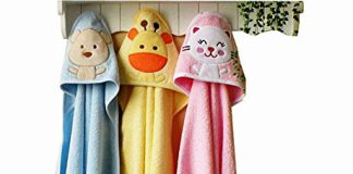 Brandonn Premium Hooded Blanket Cum Wrapping Sheet for Babies (Multicolor, 3 Pieces, 27inchx30inch)