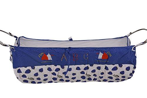 Dazzle Born Baby khoya Cradle Cloth Baby zoli with Mosquito net (Dark Blue)