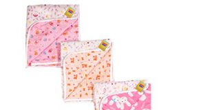 Fareto Nappy Changing Mat Water Proof Bed Protector with Foam Cushioned for New Born Baby 4 Sheets (0-6Months, Multicolour , L-24Inchs, B-18Inchs)