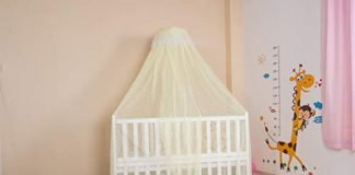 Kiddale Mosquito Net with Stand(3 Position Adjustable Heights) to Fix On Baby Crib, Bed Or Cot (Yellow)