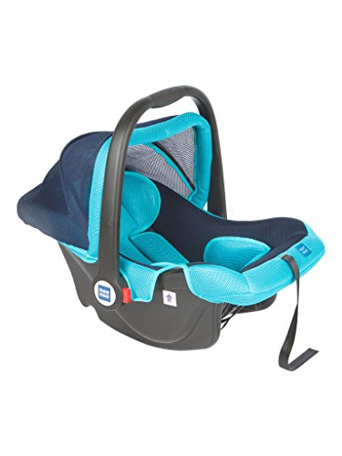 Mee Mee Baby Car Seat Cum Carry Cot with Thick Cushioned Seat (Light Blue)