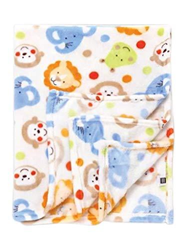 Mee Mee Multipurpose Soft Baby Blanket (Green with Multicolor - Dinosaur Print)