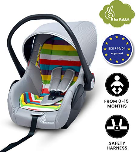R for Rabbit Picaboo Infant Car Seat Cum Carry Cot (Rainbow)