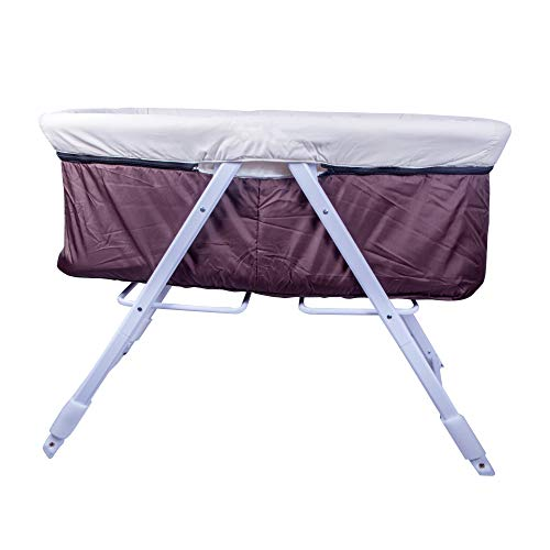 Tector Baby Travel Crib / Craddle / Portable Cot for newborn infants (Brown) - Pouch Series