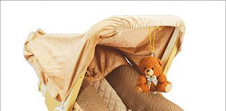 Tender Care 12 in 1 Musical Carry Cot Bouncer with Storage Box and Mosquito Net for New Born Baby (Beige)