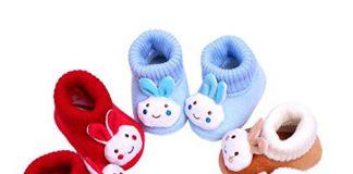 kezle Baby's Cotton Multicolour Teddy Style Shoes (0-12 Months) -1 Pair