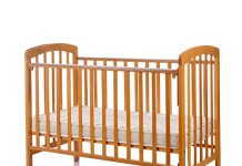 Babycenterindia Baby Wooden Cot 892 - Natural