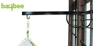 Baybee New Born Baby Cradle Cot Metal Hanger - Cradle for Baby Window Cradle Metal Hanger for Baby Size (76 x 26 x 8 cm Black)