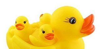 JVM Chu Chu Duck Family Baby Bathing Toys Set