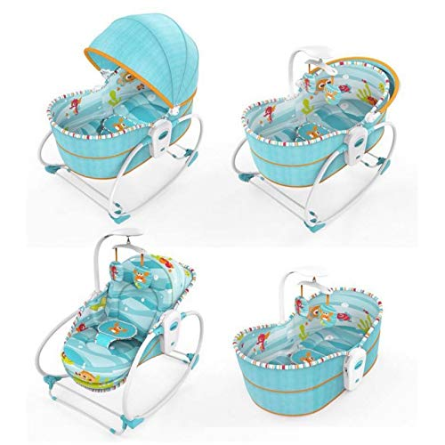 Mummamia Mastela 5-in-1 Rocking Bounce Chair with Removable Bassinet and Melody