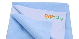 OYO BABY Waterproof Bed Protector Dry Sheet -Large (Blue)